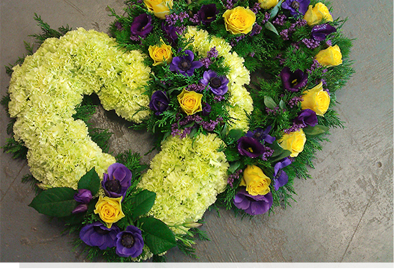 funeral flowers text
